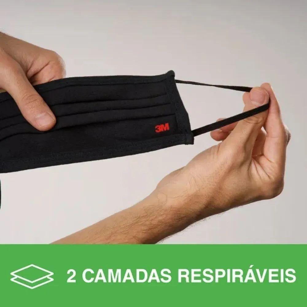 Kit 3 Máscaras De Proteção 3M + 1 Gel Antisséptico Hi Clean 500ml
