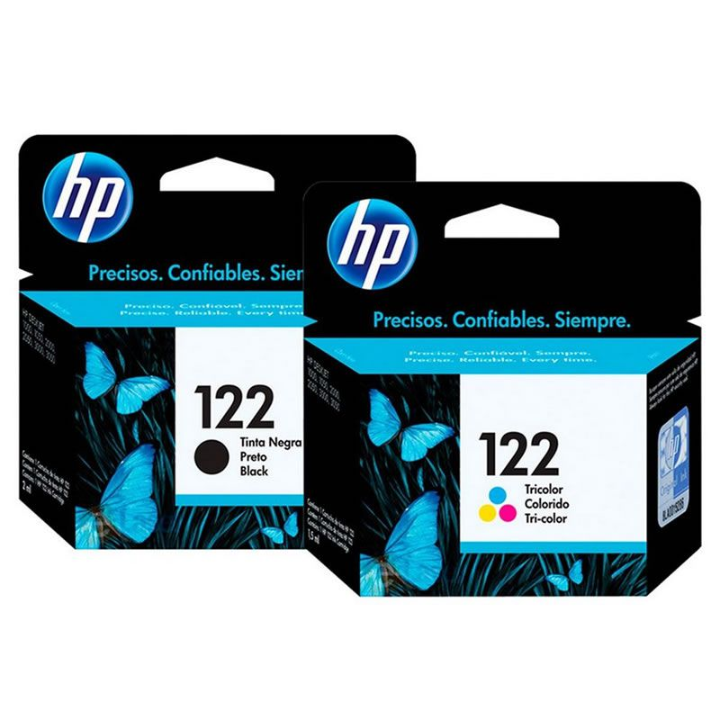 Kit Cartucho HP 122 Preto Original + Cartucho HP 122 Colorido Original