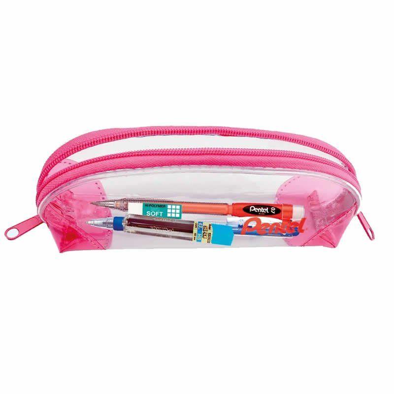 Kit Escolar Pencase Pentel Estojo Rosa 23967
