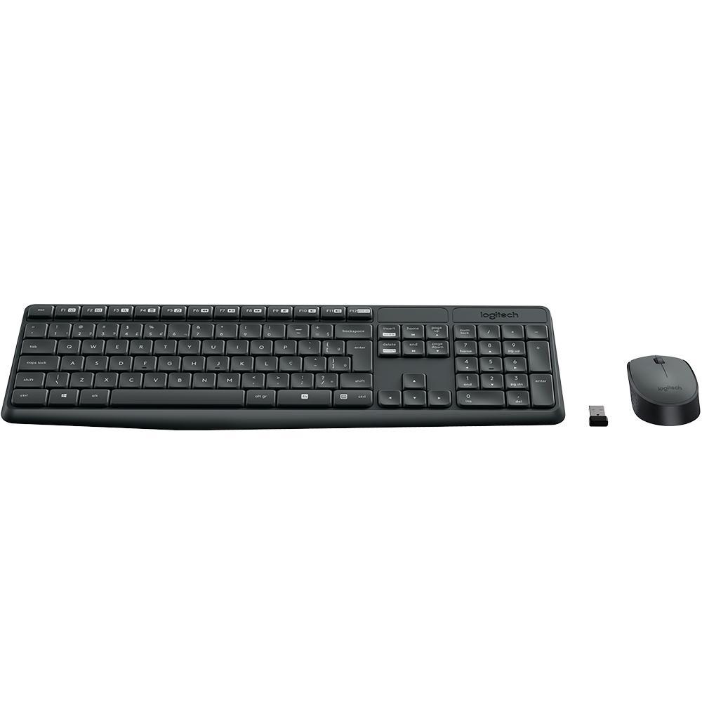 Kit Teclado e Mouse Sem Fio MK235 Logitech 27533