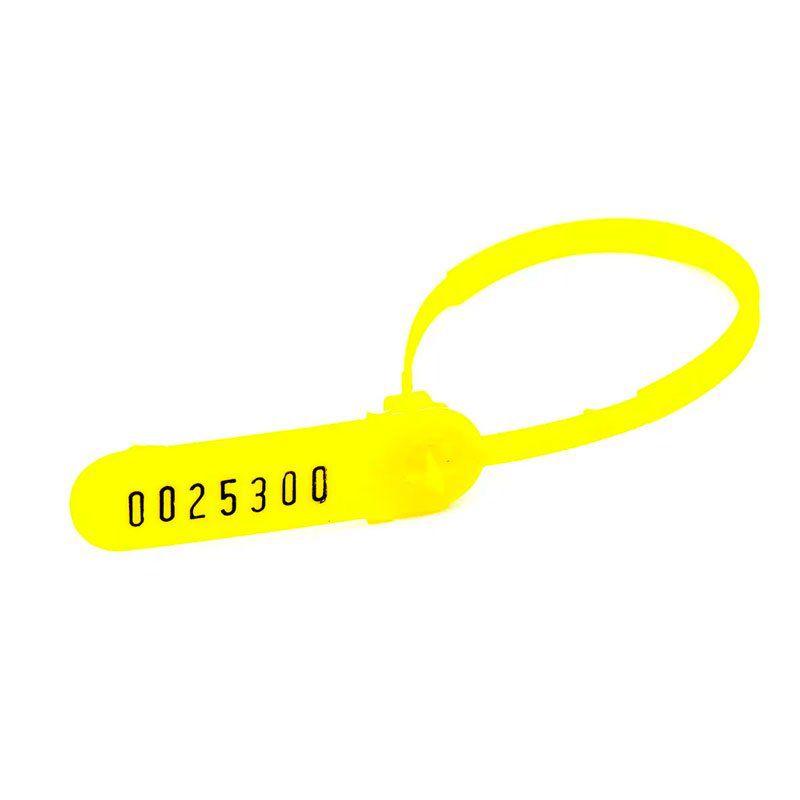 Lacre Para Malote 16Cm Amarelo 100 Un. 2160 06744