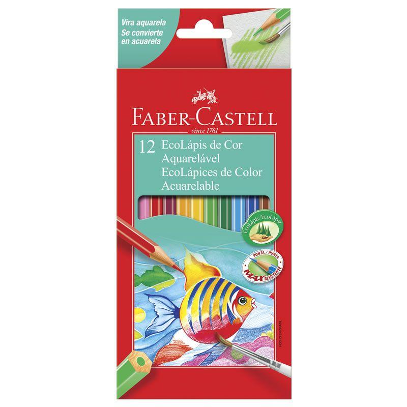 Lápis de Cor 12 Cores Aquarela + Pincel 120212G Faber-Castell 03203