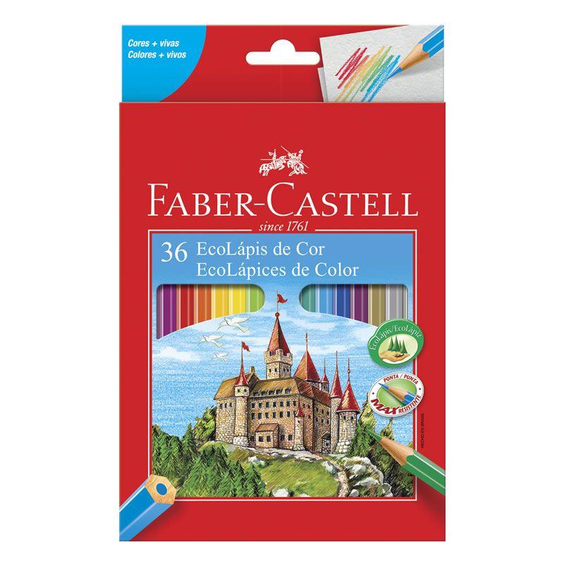 Lápis de Cor 36 Cores Sextavado 120136G Faber-Castell 03201