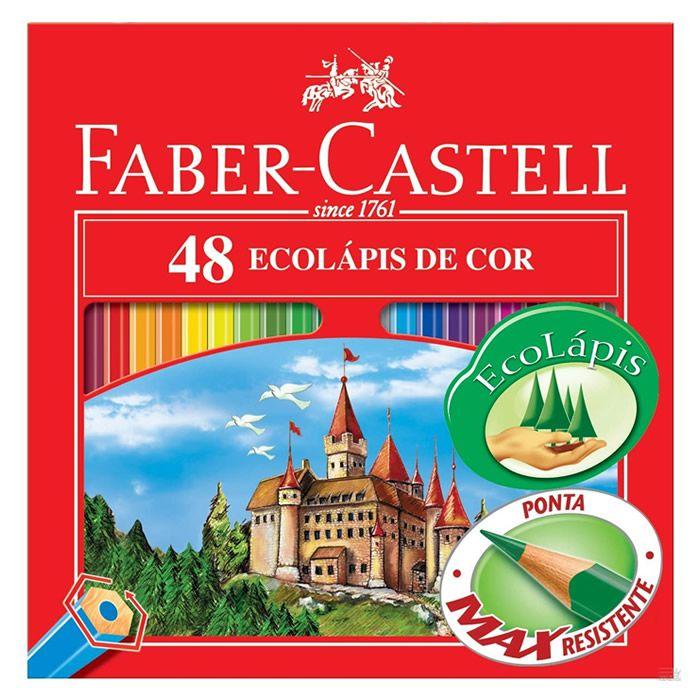 Lápis de Cor 48 Cores Sextavado 120148 Faber-Castell 03473