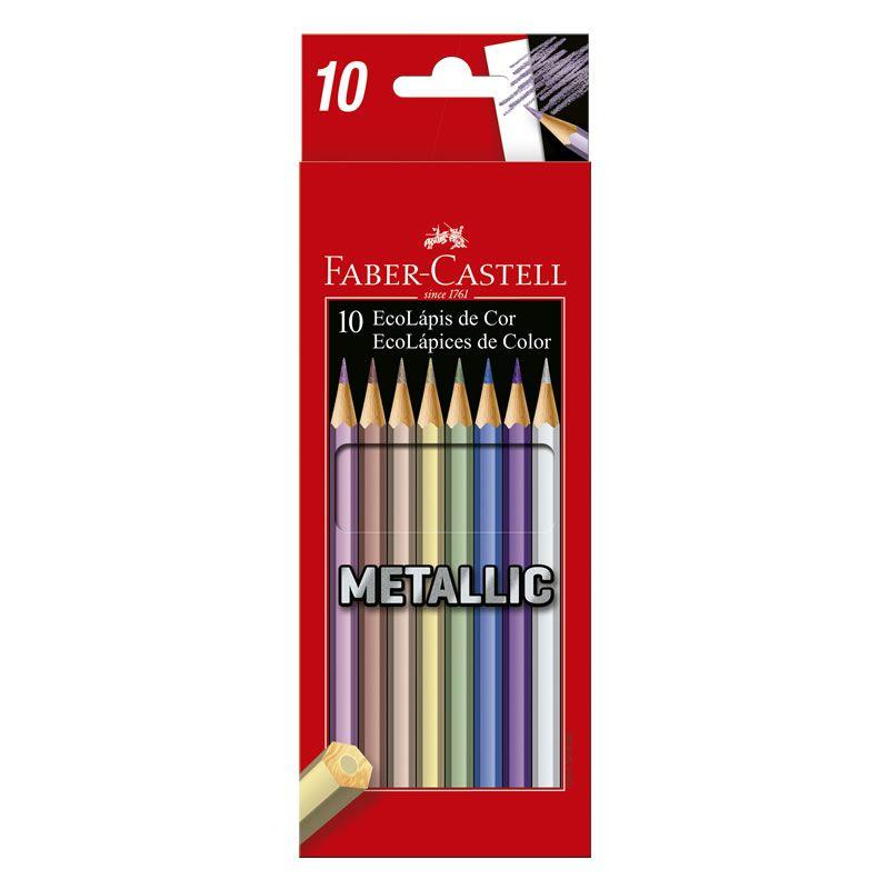 Lápis de Cor Faber-Castell 10 Cores Metallic 120410G 26254