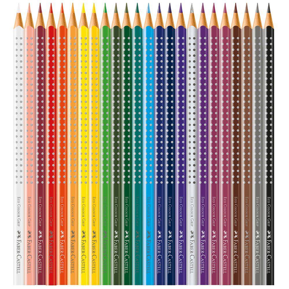 Lápis de Cor Faber-Castell 24 Cores Grip Lata 121024Ltn 25041