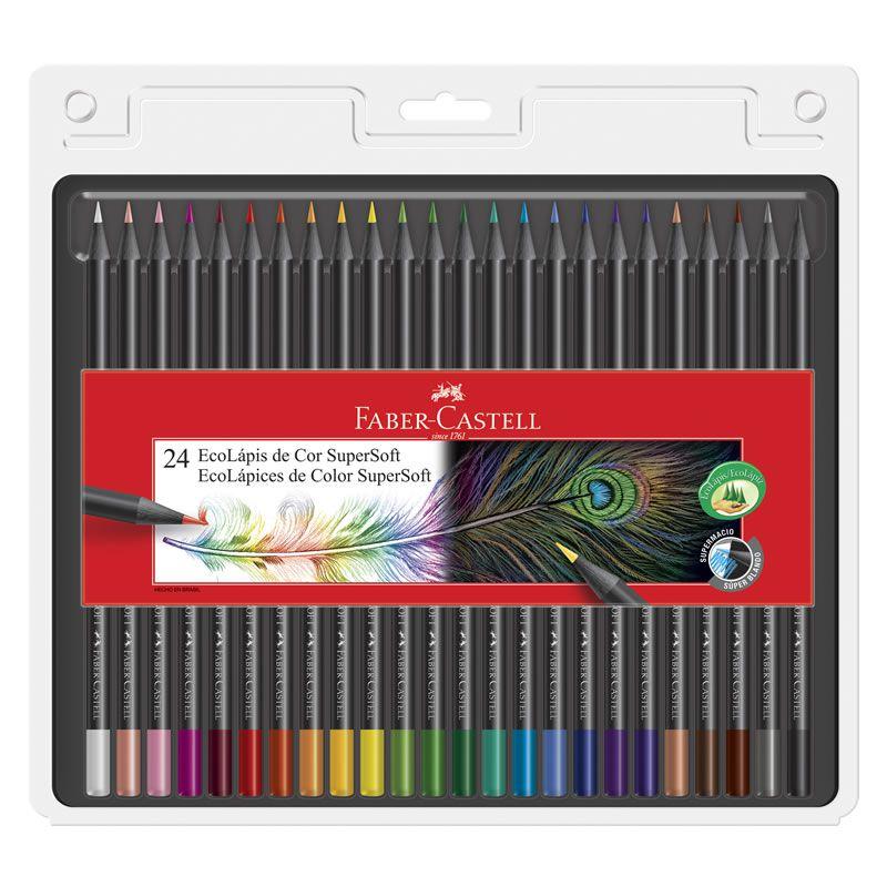 Lápis de Cor Faber-Castell 24 Cores Supersoft 120724Soft 25040