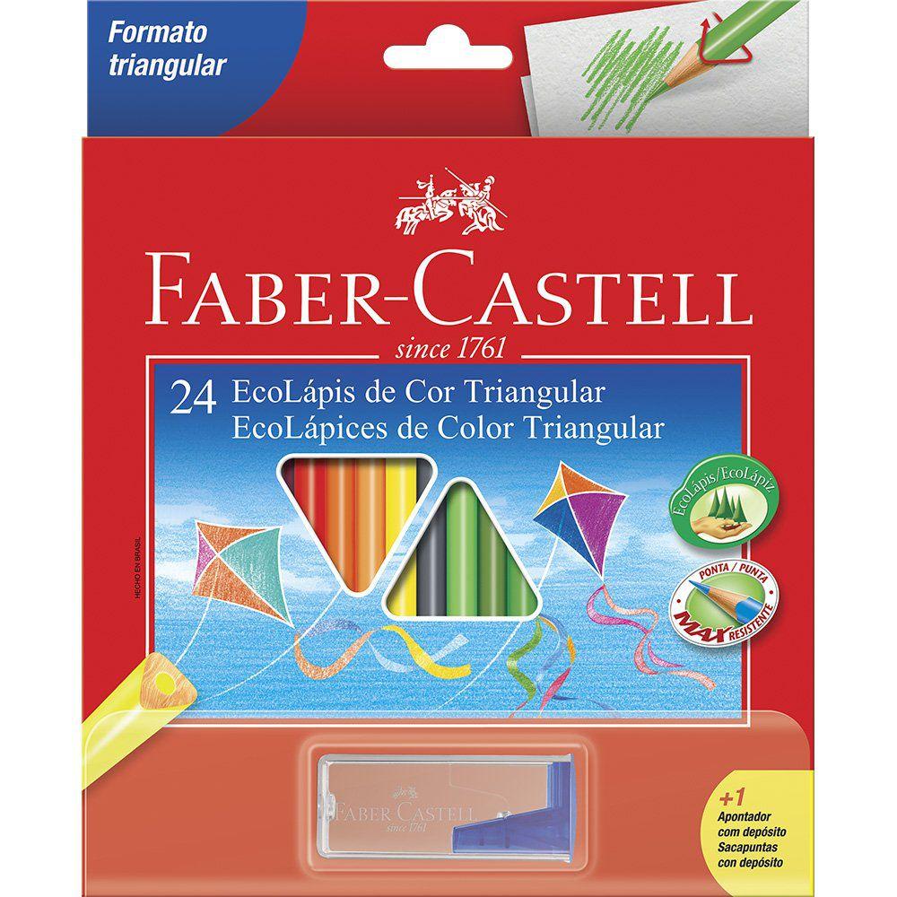 Lápis de Cor Faber-Castell 24 Cores Triangular 120524 12062