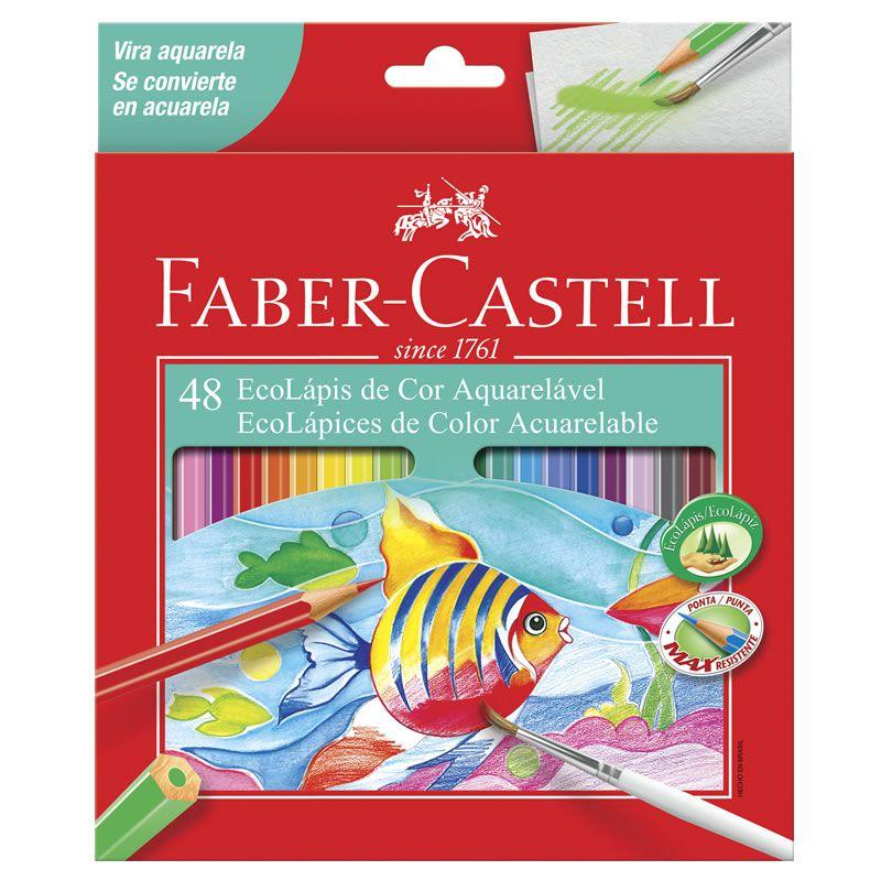 Lápis De Cor Faber-Castell 48 Cores Aquarelavel 120248G 09978