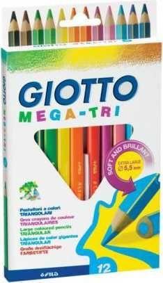 Lápis de Cor Giotto Mega Tri 12 Cores 220600Sa 25501
