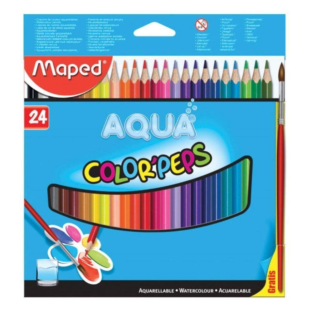Lápis de Cor Maped 24 Cores Aquarelavel Aqua 836013Zv 25446