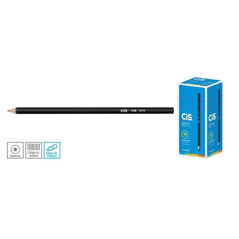 Lápis Grafite Cis Plastic Hb Nº 2 144 UN  43.5100 18405
