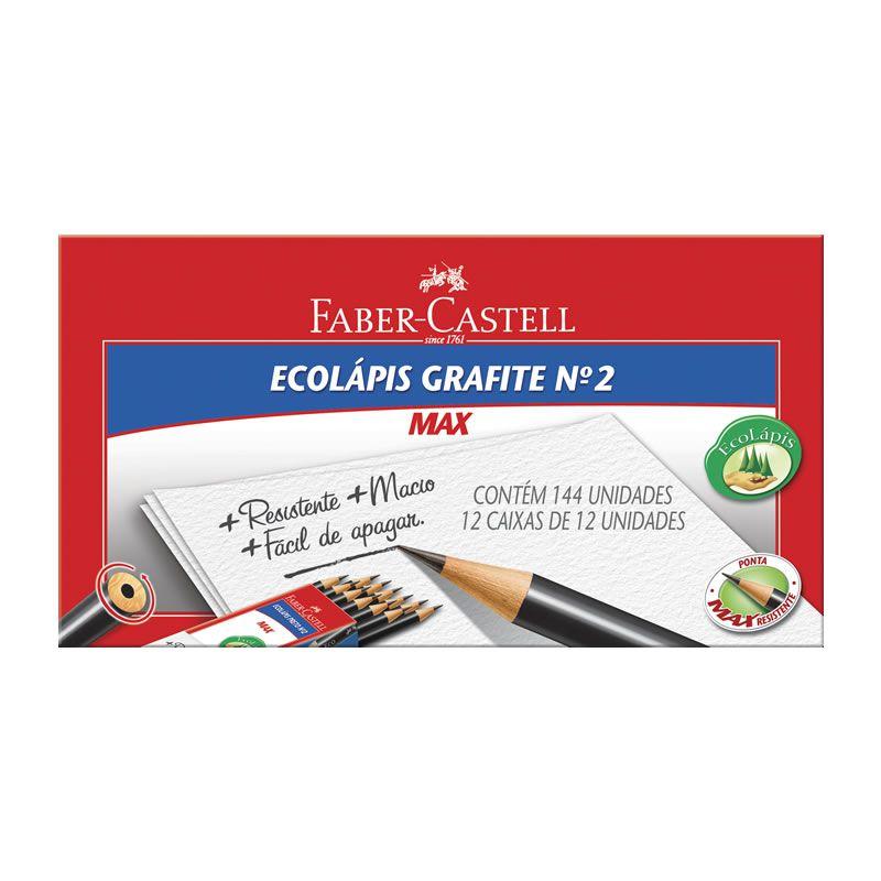 Lápis Grafite Faber-Castell 1205 Max N2 144 Un. Redondo 1205M/144 14458