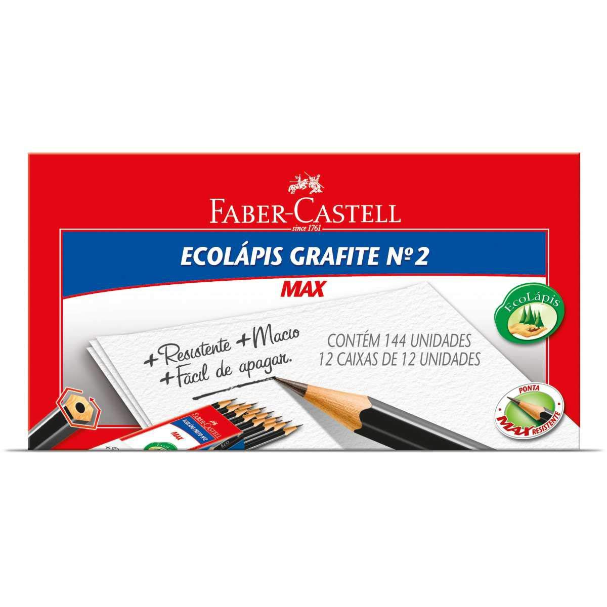 Lápis Grafite Faber-Castell 1205 Max N2 144 Un. Sextavado 1205SM/144 03249