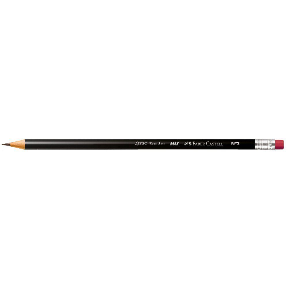 Lápis Grafite Faber-Castell 1205 Max Redondo Com Borracha 6 Un Sm/1205B 03179