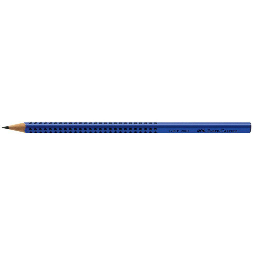 Lápis Grafite Faber-Castell Grip Azul 12 Un. 2001Baz 13754