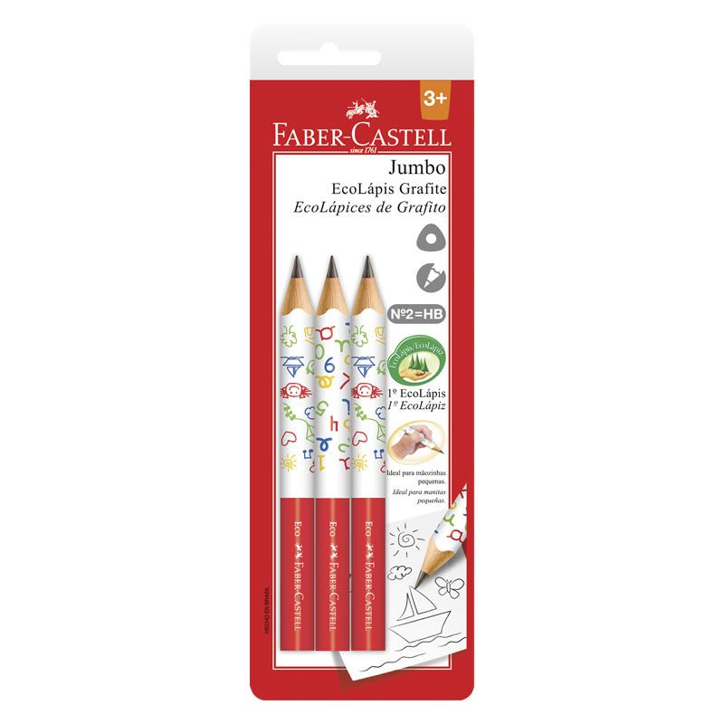 Lápis Grafite Faber-Castell N 2 Jumbo Com 3 Un Sm1205J 06570