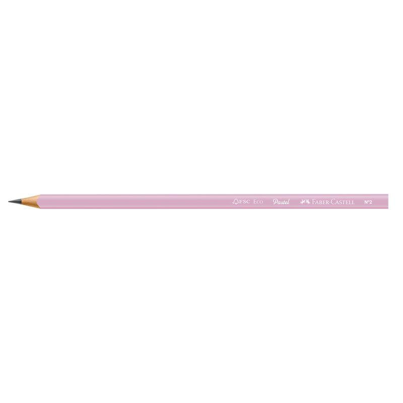 Lápis Grafite Faber-Castell Pastel + Apontador + Borracha Rosa SM/1205PASTELAPR 27245