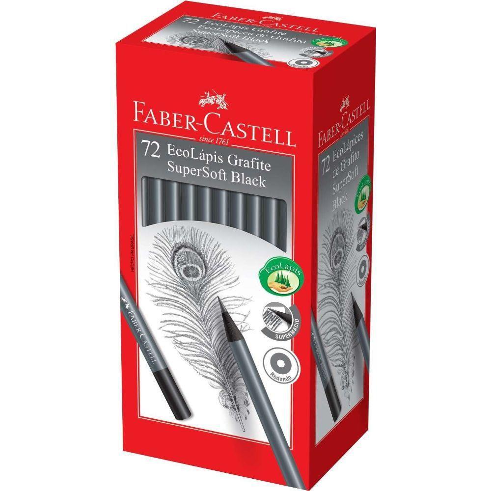 Lápis Grafite Faber-Castell Supersoft N2 72 Un. 907Soft 26670