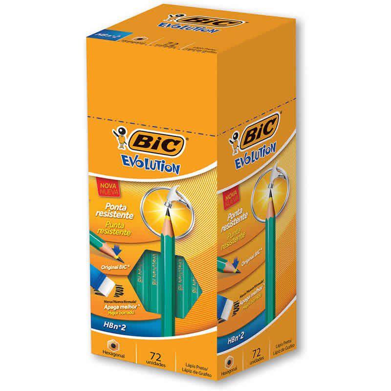 Lápis HB N2 BIC Evolution Hexagonal 72 Un. 840641 25065