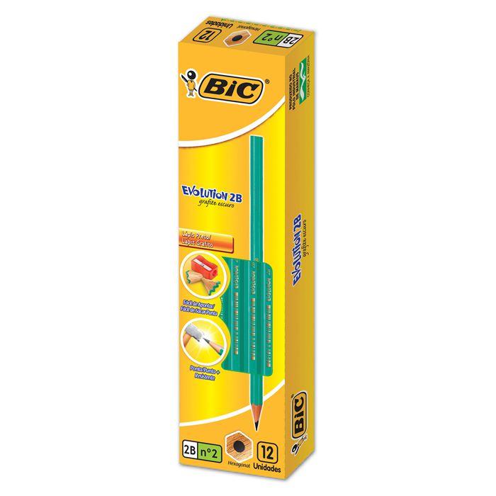 Lápis Hb Nº 2 Evolution Hexagonal 12 UN 1102682/1 Bic 03457
