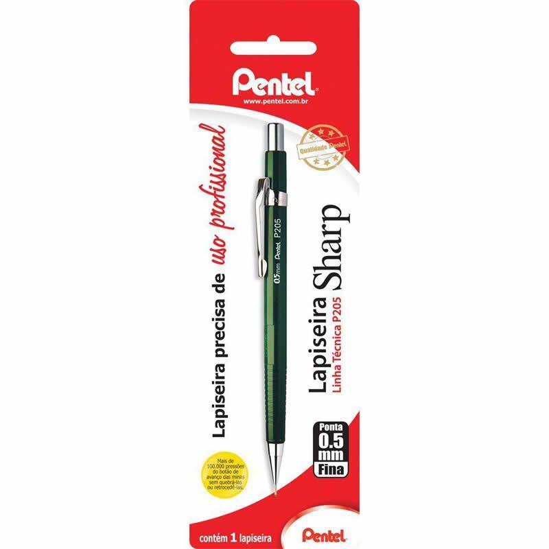 Lapiseira 0.5mm Pentel Técnica Verde P205-D 09991