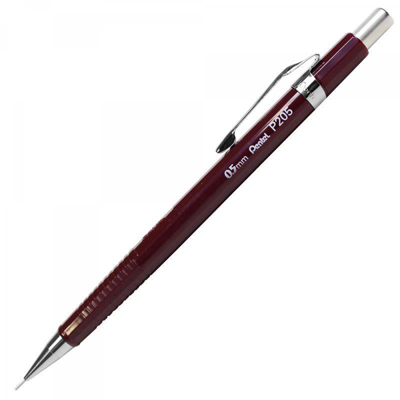Lapiseira 0.5mm Pentel Técnica Vinho P205-B 17025