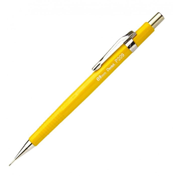 Lápiseira 0.9mm Pentel Técnica Amarela P209-G 01798