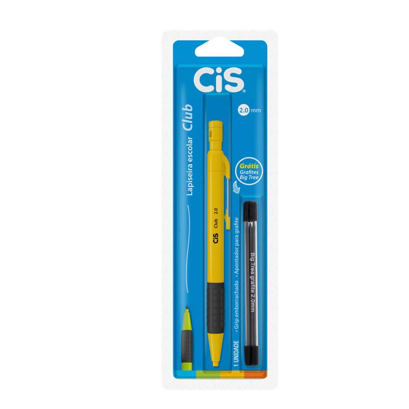 Lapiseira Escolar 2.0 CiS Club Cores + Grafite Grátis 44.3001 24430