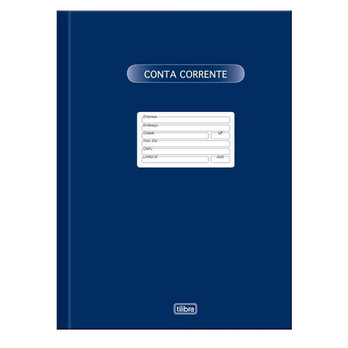 Livro Conta Corrente Grande com 50 Fls Tilibra 01687