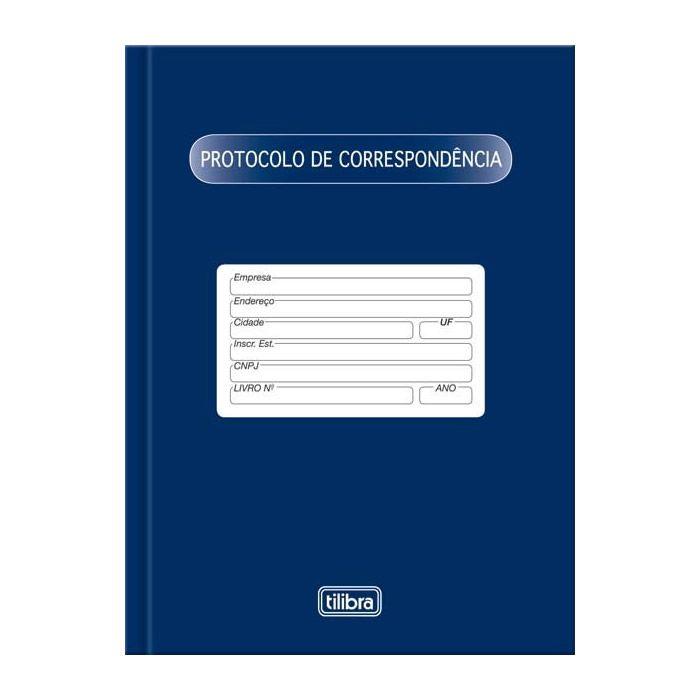 Livro Protocolo Correspondência com 104 Fls 120545 Tilibra 01678