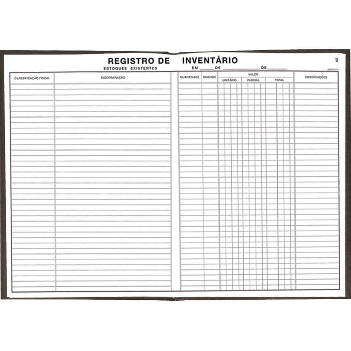 Livro Registro Tilibra Inventario Mod.7 50 Fls 121177 15897