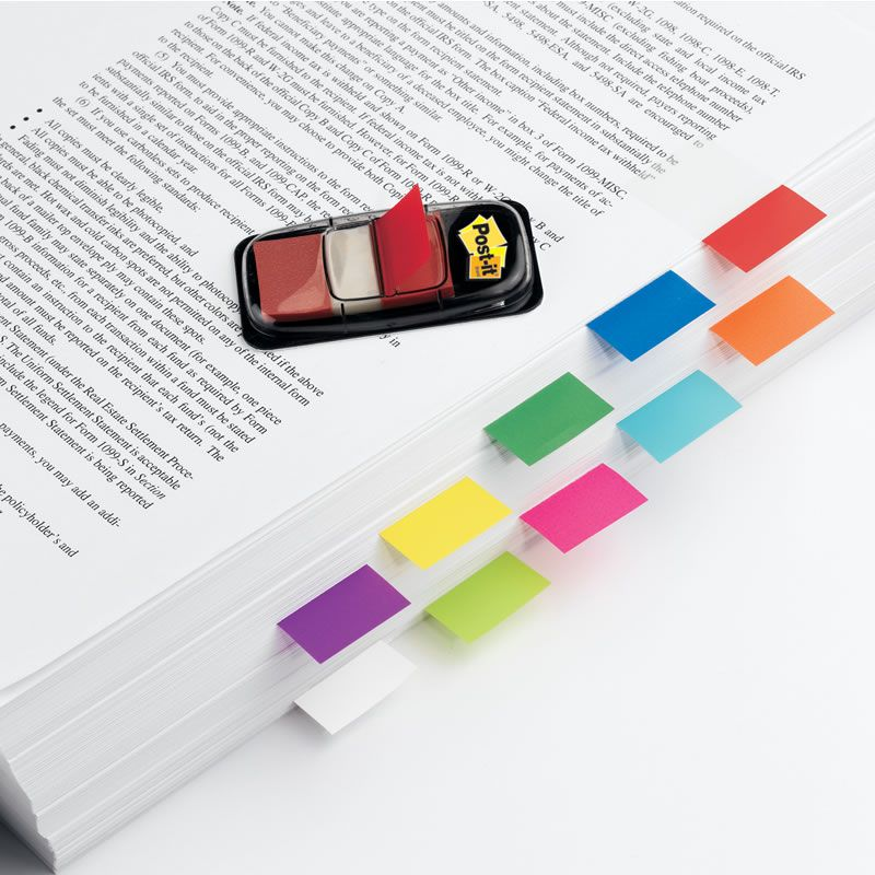 Marcador de Página Adesivo Post-it® Flags Amarelo 25,4 mm x 43,2 mm - 100 folhas 16792