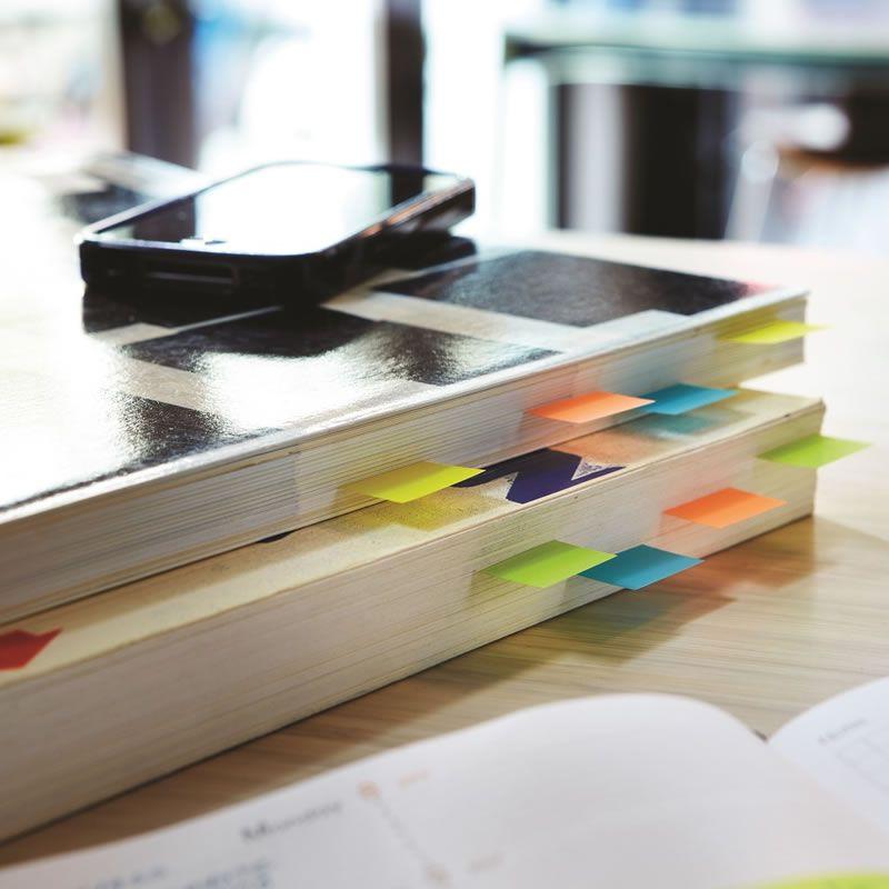 Marcador de Página Adesivo Post-it® Flags de Papel 76 mm x 15 mm - 180 folhas 22921