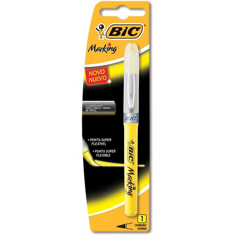Marcador de Texto BIC Marking Flexivel Amarelo 930072 24102