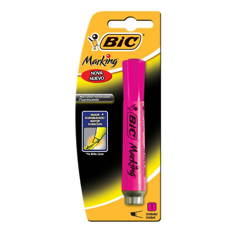 Marcador de Texto BIC Marking Rosa 904197 21080