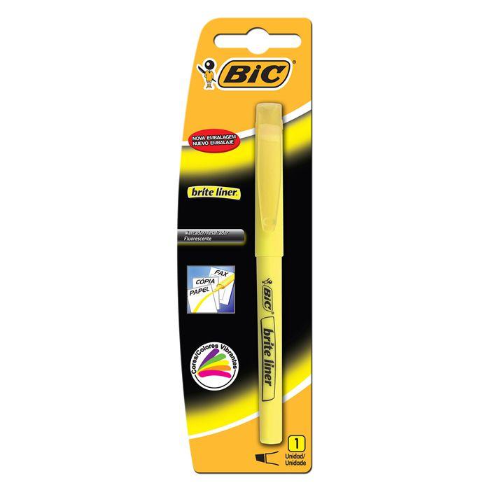Marcador de Texto Brite Liner Amarelo Bic 13160