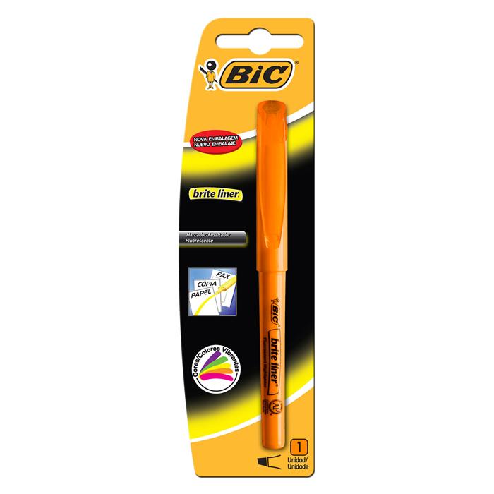 Marcador de Texto Brite Liner Laranja Bic 09282