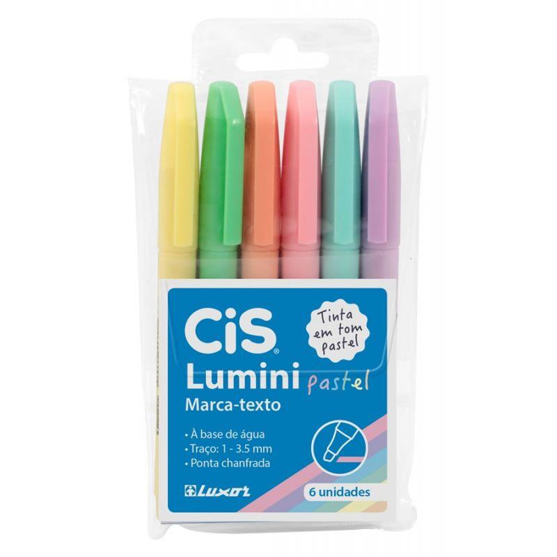 Marcador de Texto Cis Cores Pastel 6 Un 56.9800 01930