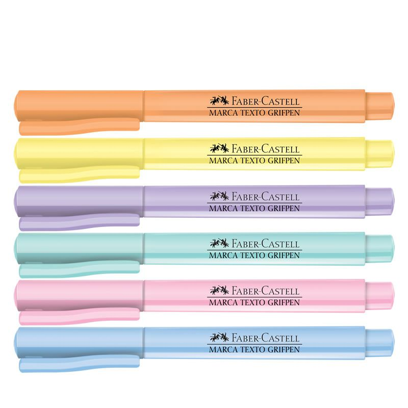 Marcador de Texto Faber-Castell Grifpen 6 Tons Pastel MT/TP6ZF 27166