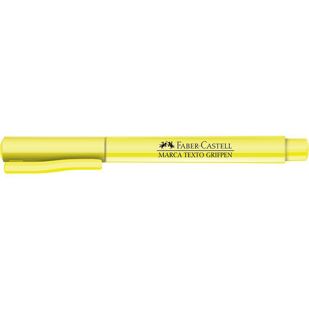 Marcador de Texto Faber-Castell Grifpen Amarelo 12 Un. MT/AMZF 11556
