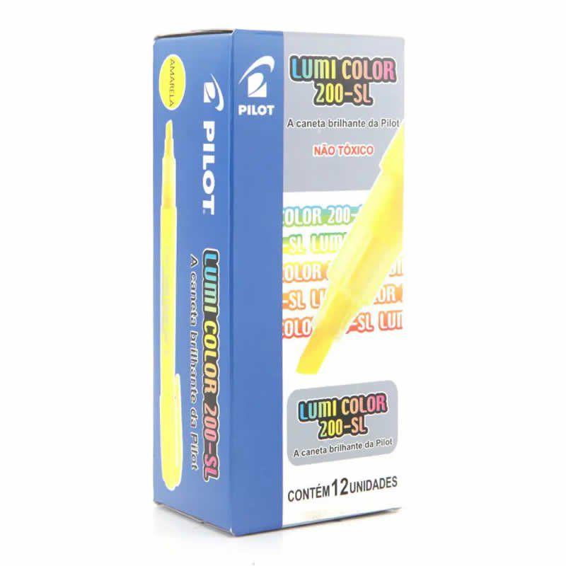 Marcador de Texto Lumi Color Amarelo Caixa Com 12 Un. 200-SL Pilot 14972