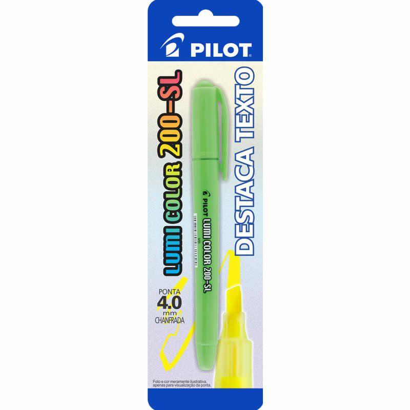 Marcador de Texto Lumi Color Verde 200-SL Pilot 01756