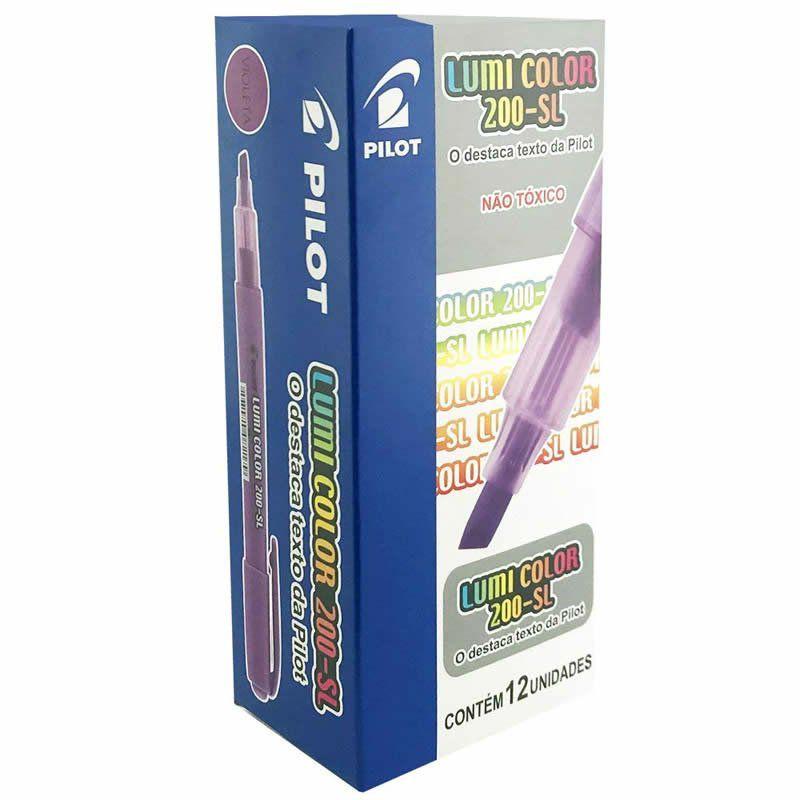 Marcador de Texto Lumi Color Violeta Caixa Com 12 Un. 200-SL Pilot 14977