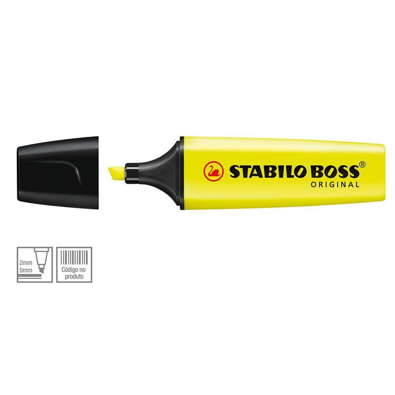 Marcador De Texto Stabilo Boss Amarelo 70/24 114.2302 18396