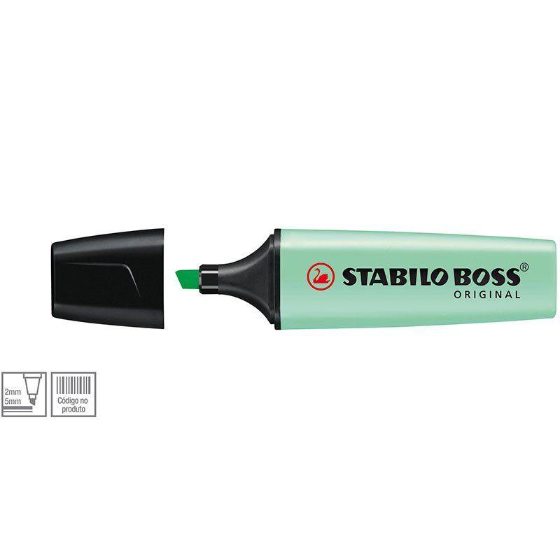 Marcador de Texto Stabilo Boss Verde Pastel 52.7701 25916
