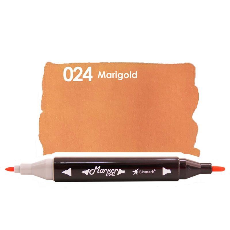 Marcador Permanente Maker Dual Bismark Marigold PK0206D 024 27073