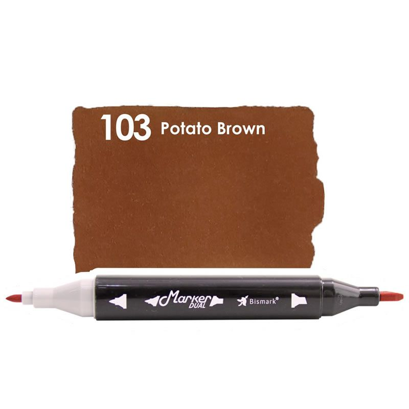 Marcador Permanente Maker Dual Bismark Potato Brown PK0206D 103 27074