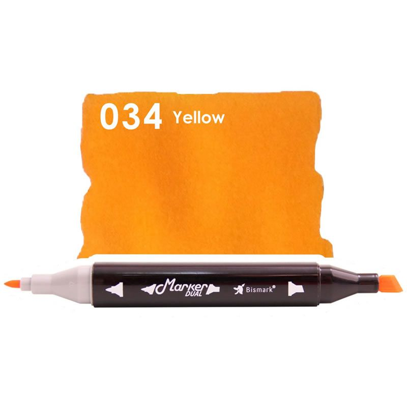 Marcador Permanente Maker Dual Bismark Yellow PK0206D 034 27058