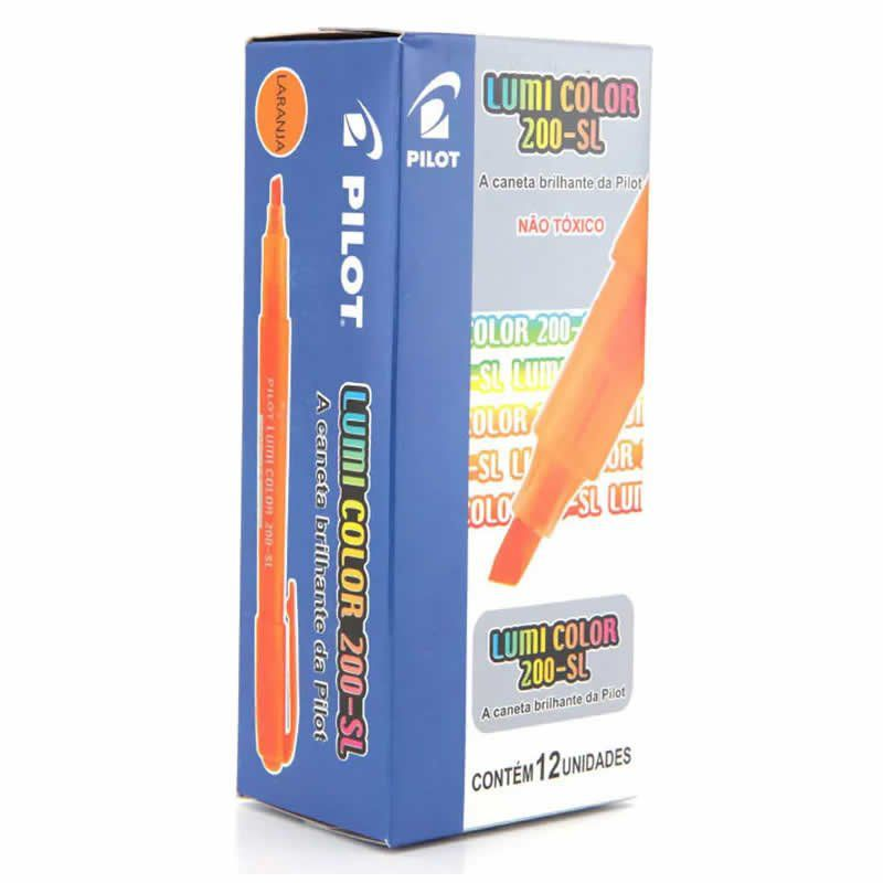 Marcador de Texto Lumi Color Laranja Caixa Com 12 Un. 200-SL Pilot 14973
